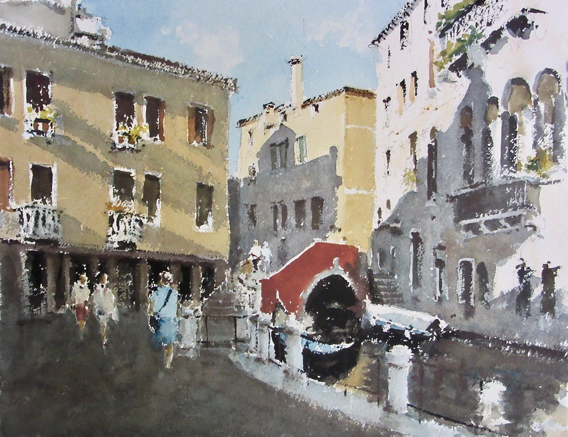 Quiet Canal Venice: 11 x 15.5 in: £750