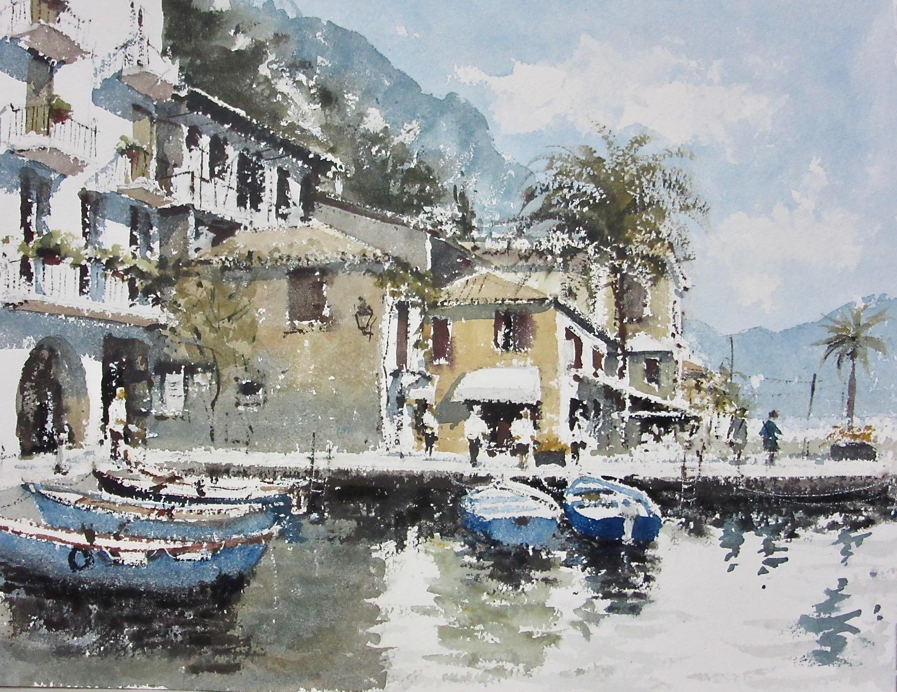 Limone Lake Garda Italy: 11 x 15.5 in: £750