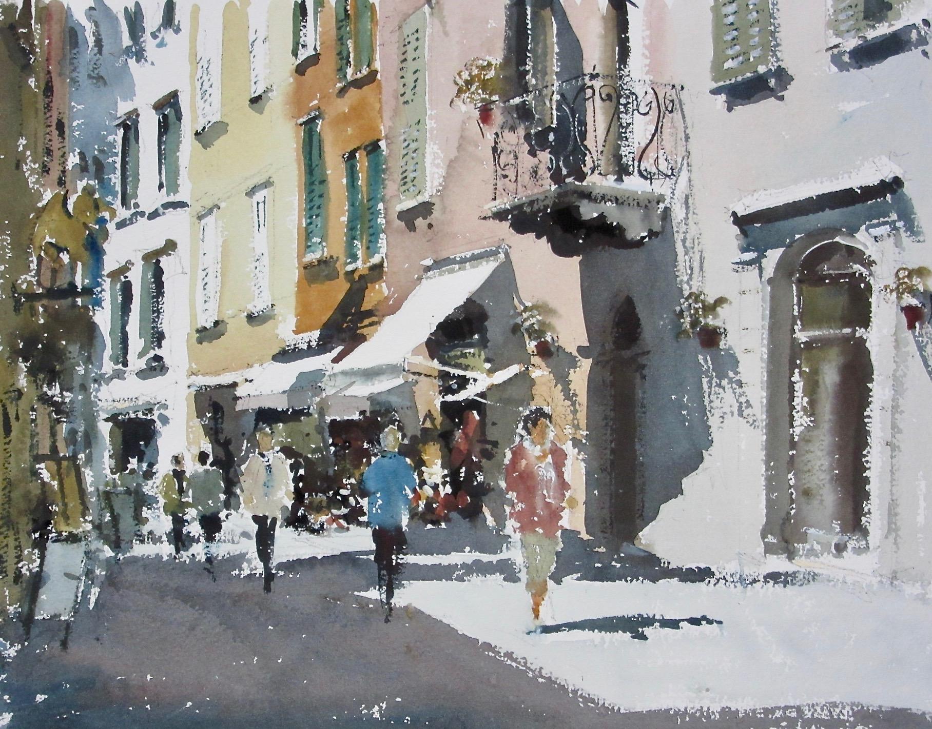 Strollers in Riva del Garda Italy: 11 x 15.5 in: £750