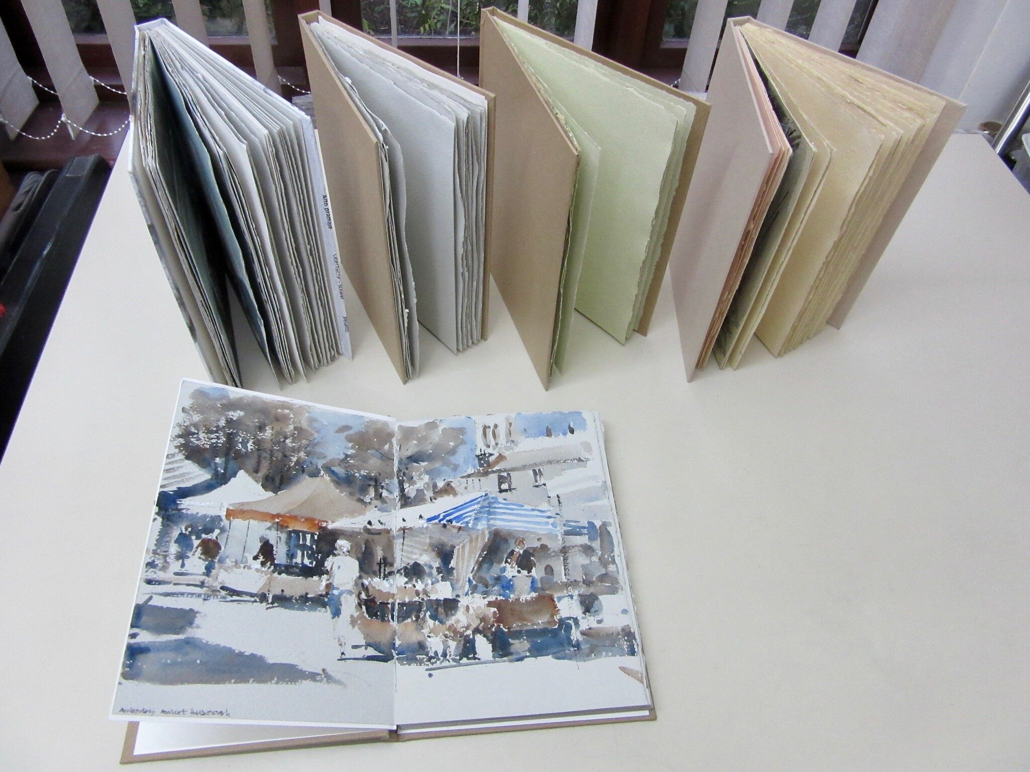 Sketchbooks incorporating Two Rivers toned papers