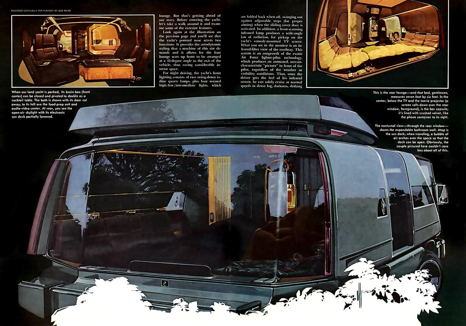 Van futuriste commandé par le magazine Playboy, 1976