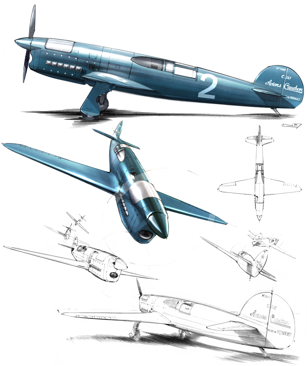 Caudron C.561 Illustrations:  Laurent Negroni