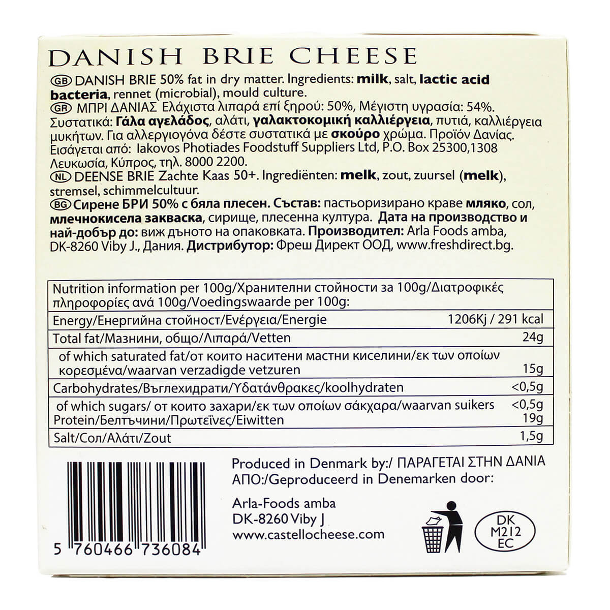 Castello Brie Nutrition