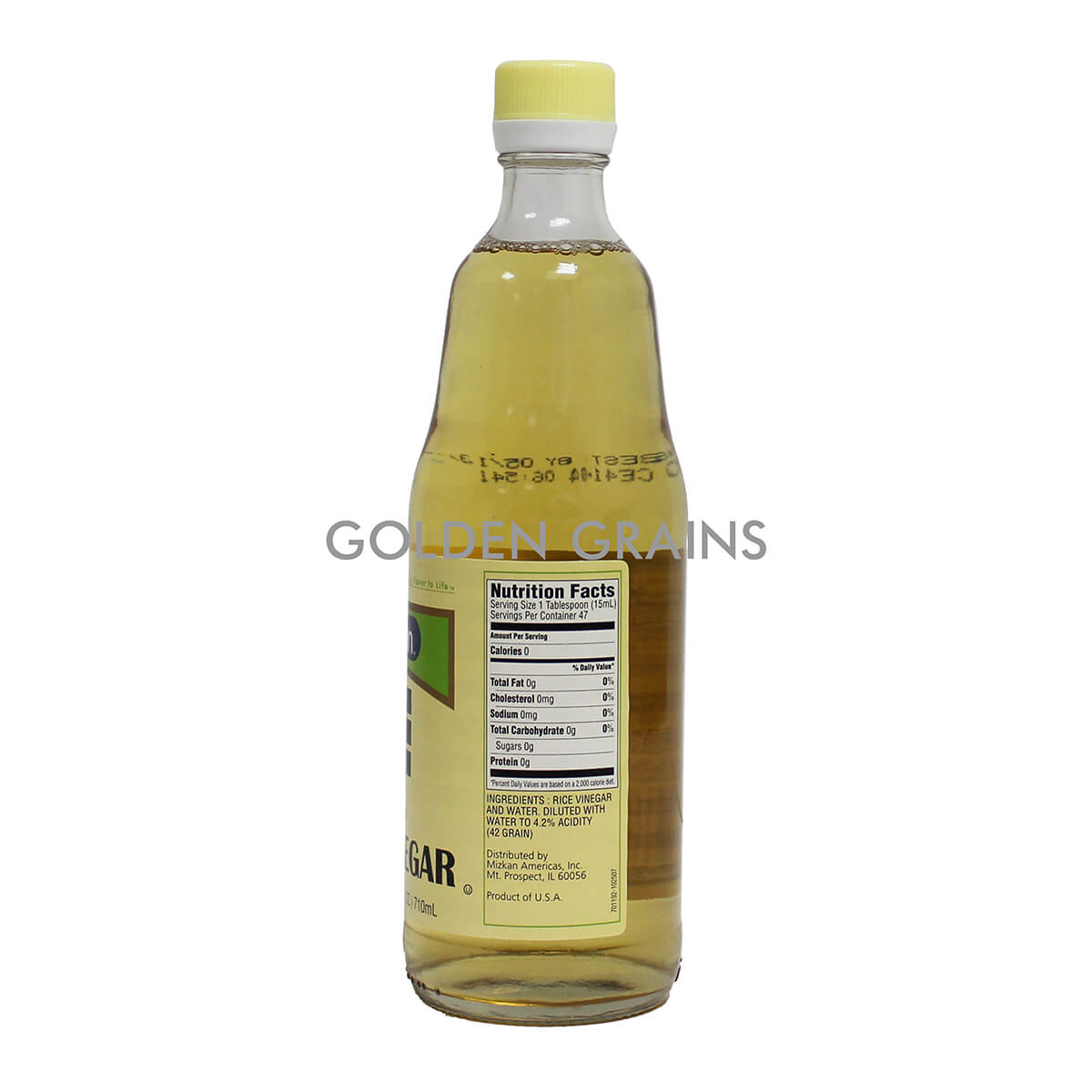 Golden Grains Mizukan - Japanese Rice Vinegar - 710ML - USA - Back.jpg