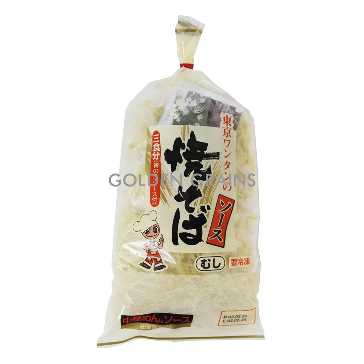 Golden Grains Tokyu - Yakisoba Noodles FRZ - 500G - Japan - Front.jpg