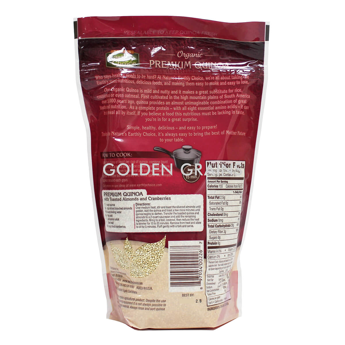Earthly Choice Quinoa Back