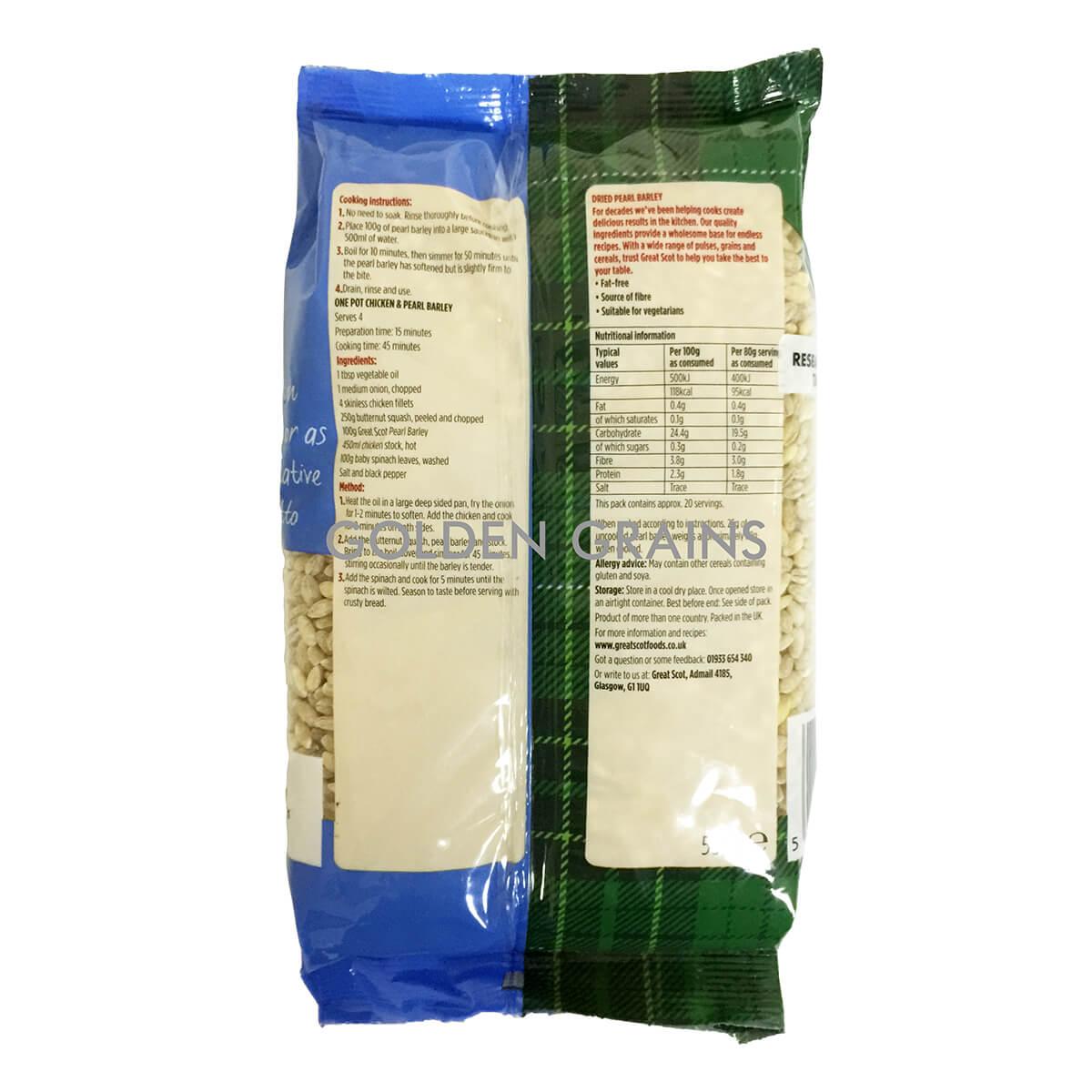 Golden Grains Dubai Export - Great Scot - Pearl Barley - Back.jpg