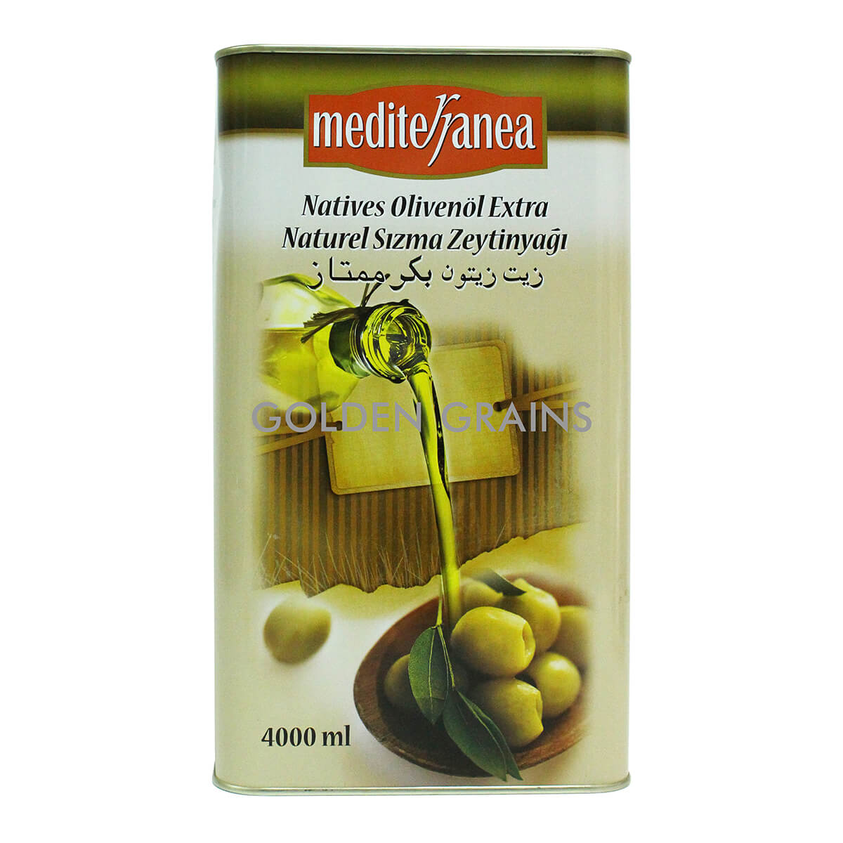 Golden Grains Mediterranea - Olive Oil - 4000ML - Front.jpg