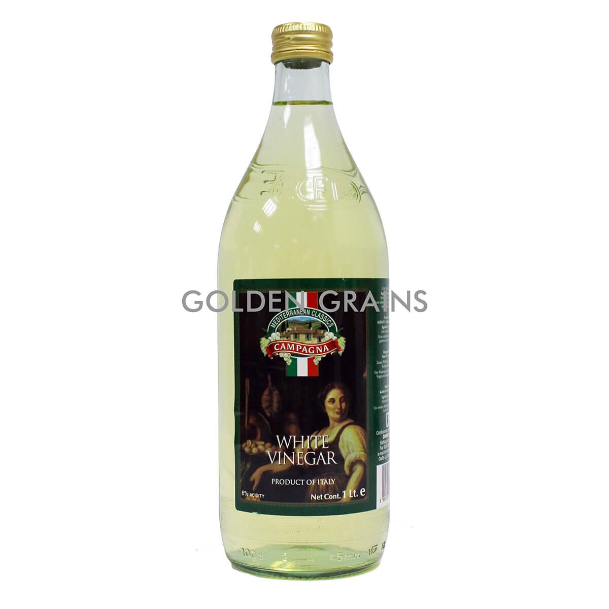 Golden Grains Campagna - White Vinegar - 1 LTR - Italy - Front .jpg
