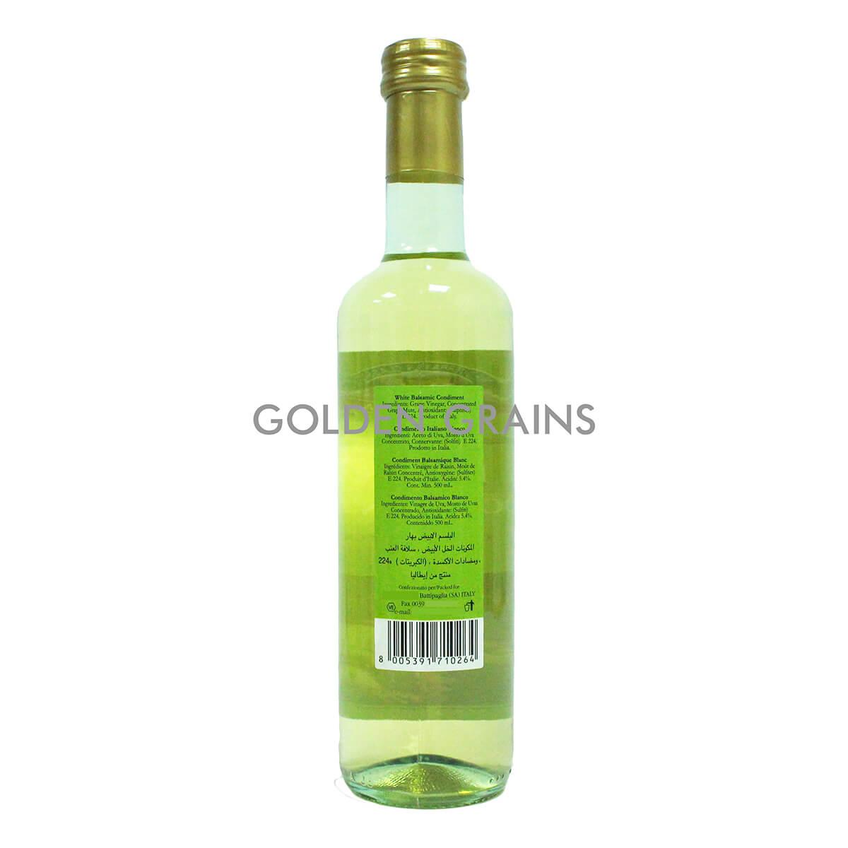 Golden Grains Campagna - Balsamic Vinegar - 500ML - Italy - Back.jpg