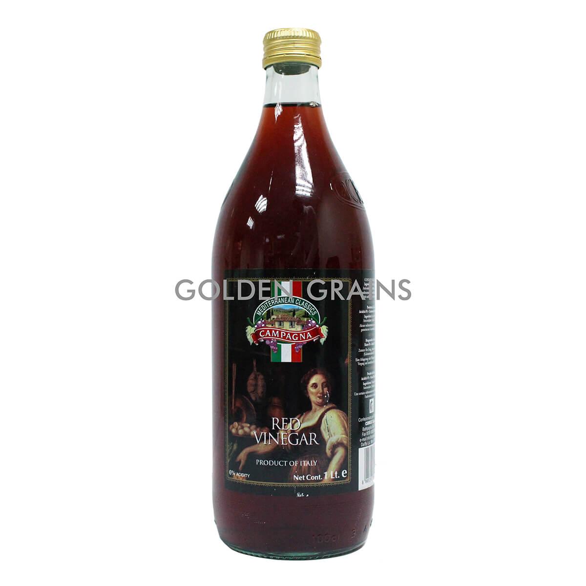Golden Grains Campagna - Red Vinegar - 1LTR - Italy - Front.jpg