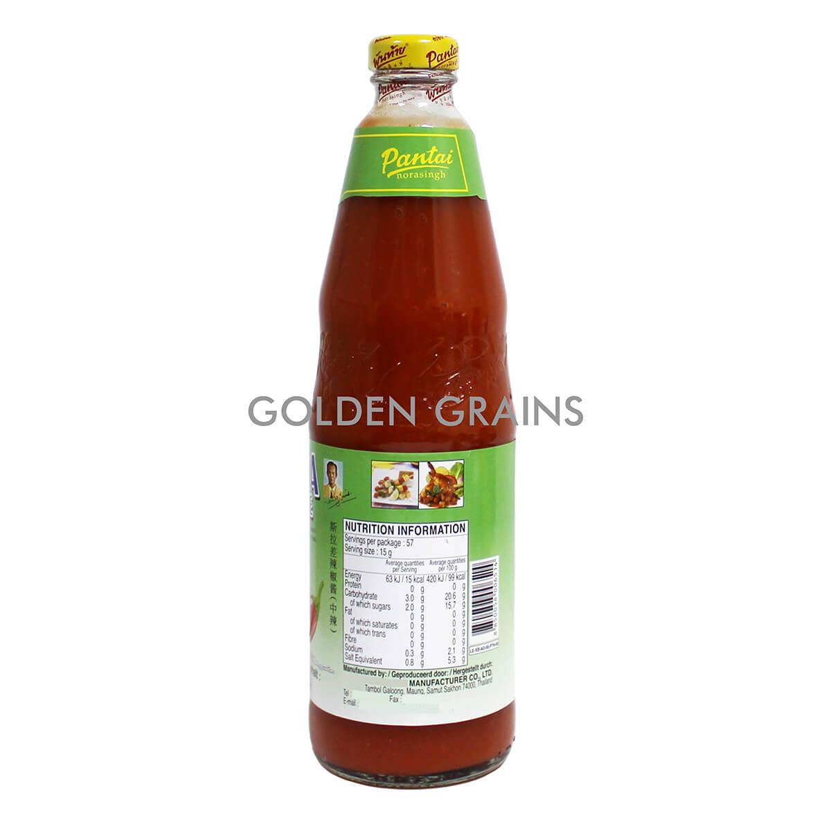 Golden Grains Dubai Export - Sriracha Chilli Sauce - Back.jpg