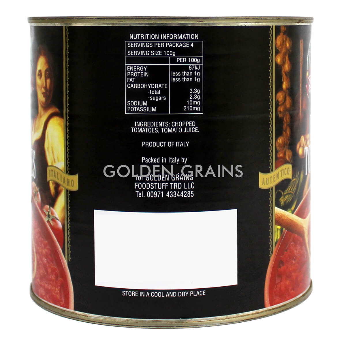 Golden Grains Dubai Export - Campagna - Diced Tomatoes - Back.jpg