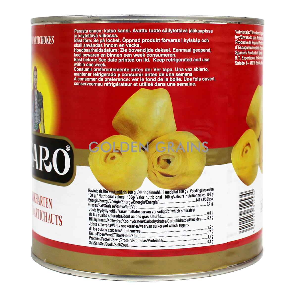 Golden Grains Dubai Export - Figaro - Artichokes - Back.jpg