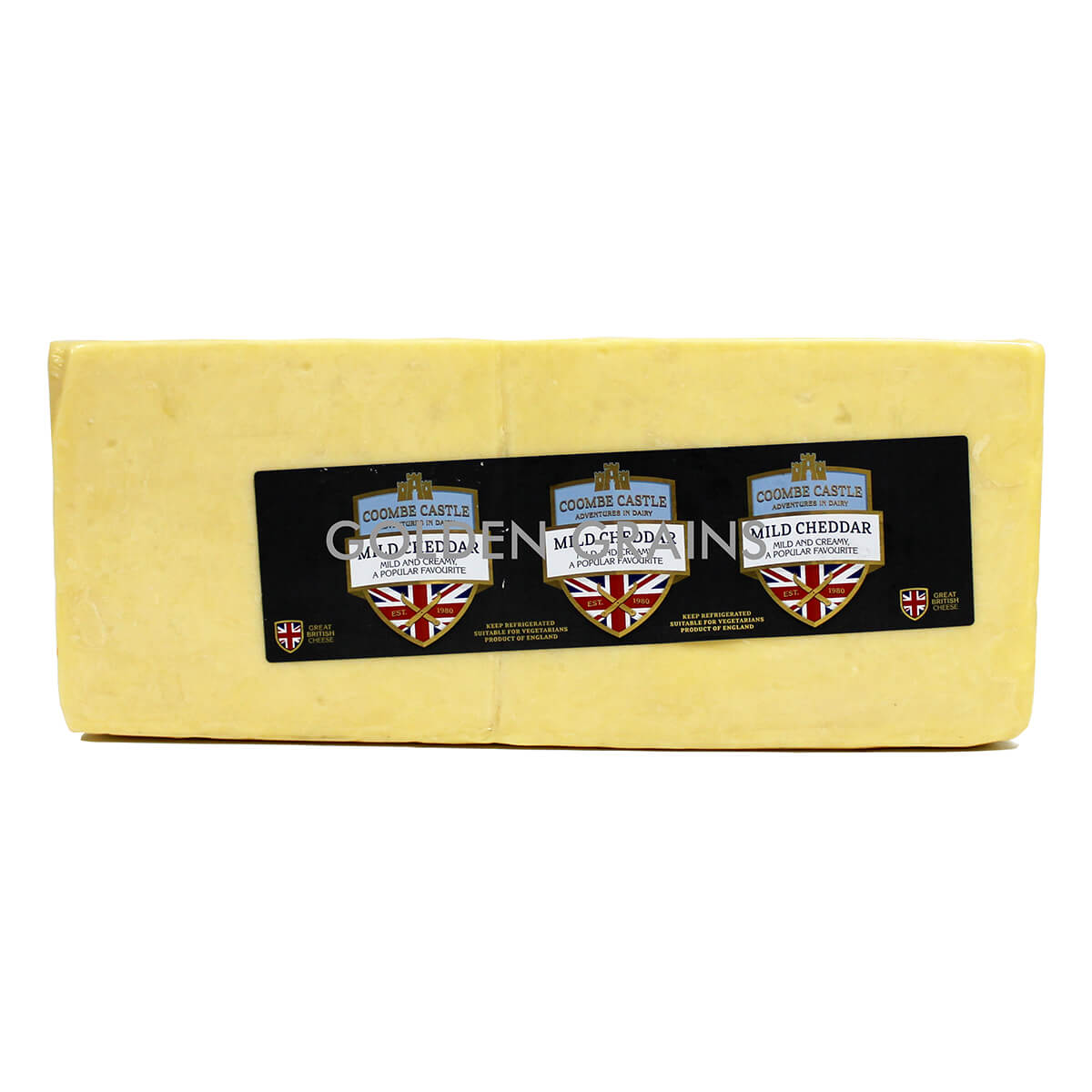 Golden Grains Dubai Export - Coombe Castle Cheese - Mild Cheddar - Front.jpg
