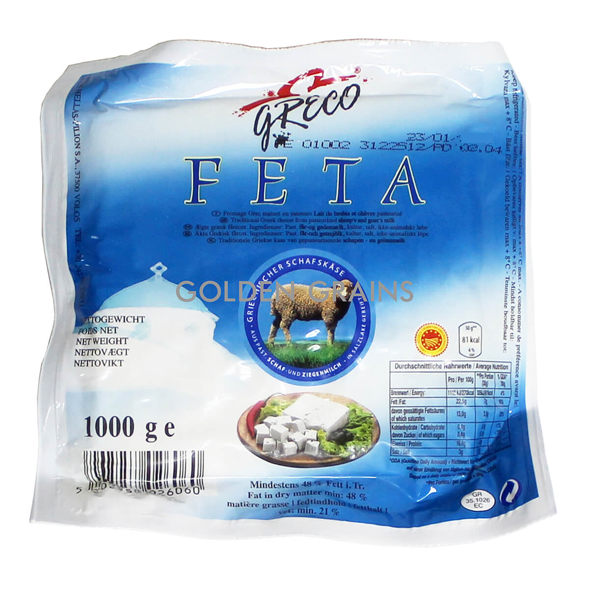 Greco - Feta Cheese — Golden Grains | Food supplier and