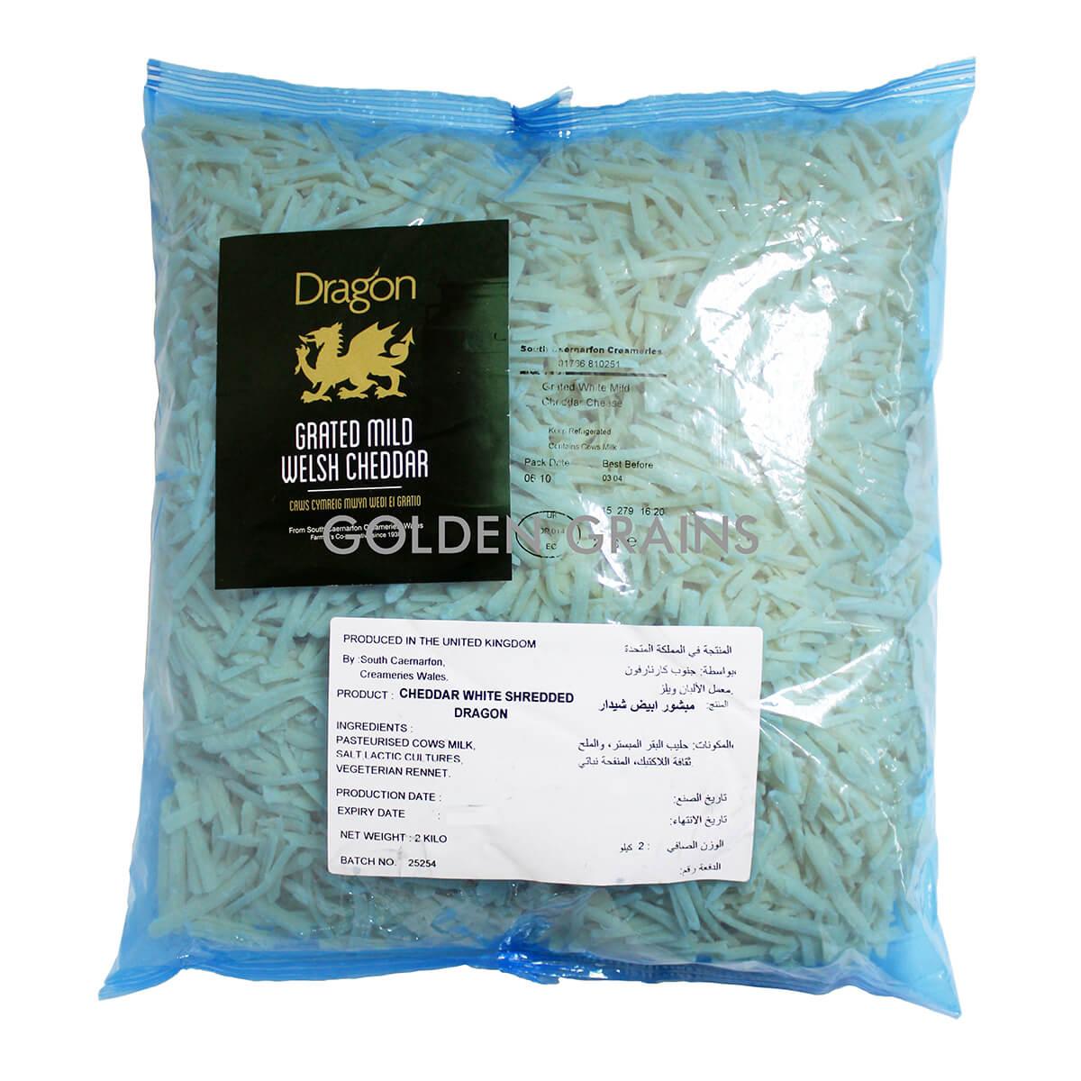 Golden Grains Dubai Export - Dragon - Grated Mild Welsh Cheddar - Front.jpg