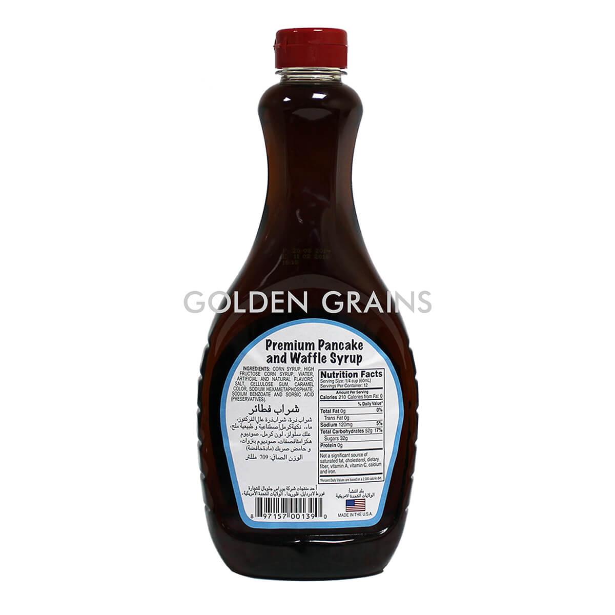 Golden Grains Dubai Export - Florida Garden - Pancake and Waffle Syrup - Back.jpg