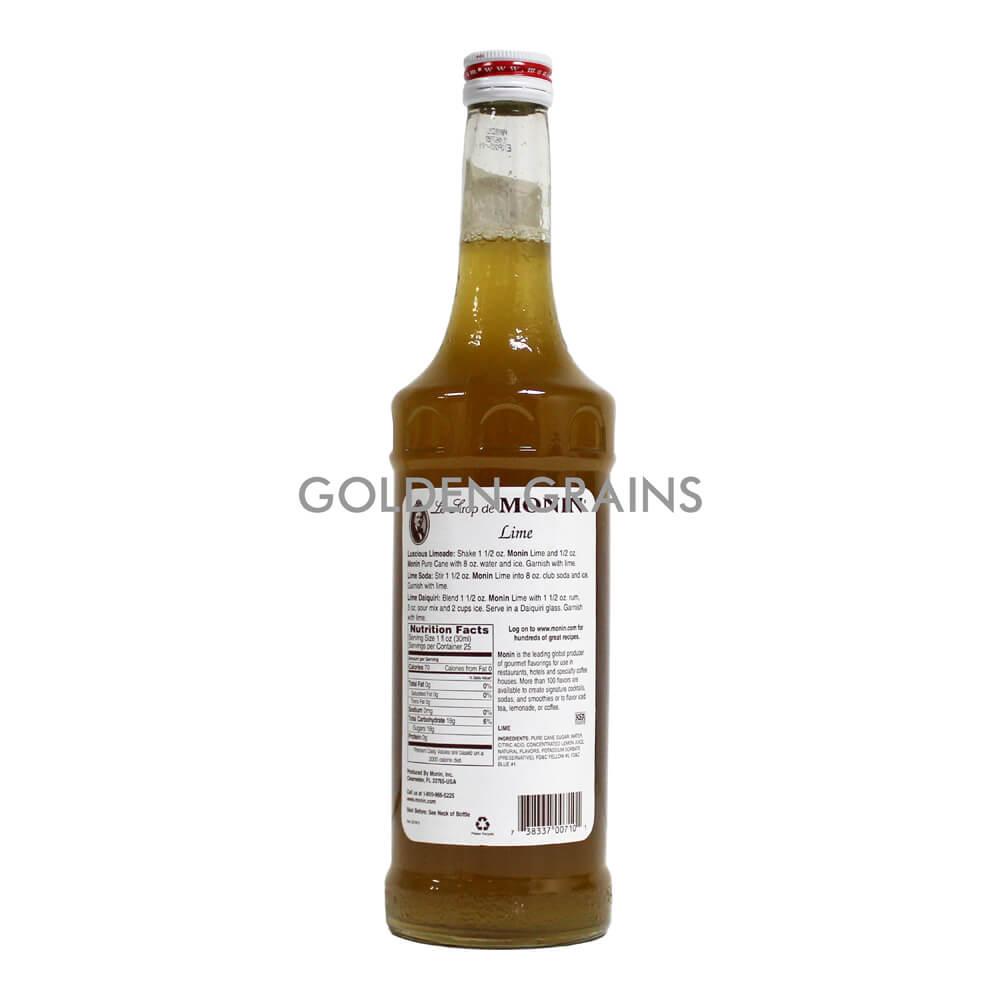 Golden Grains Monin Syrup - Lime - Back.jpg