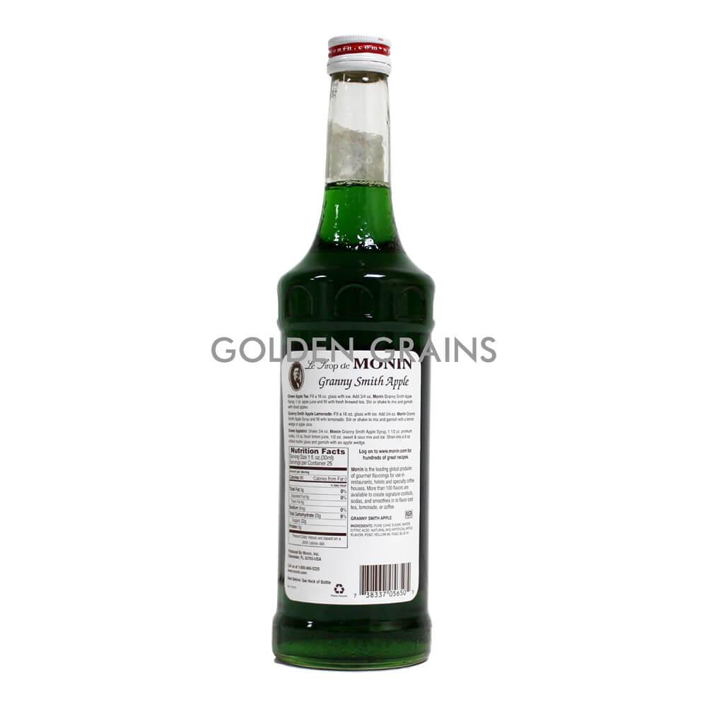 Golden Grains Monin Syrup - Granny Apple Smith - Back.jpg