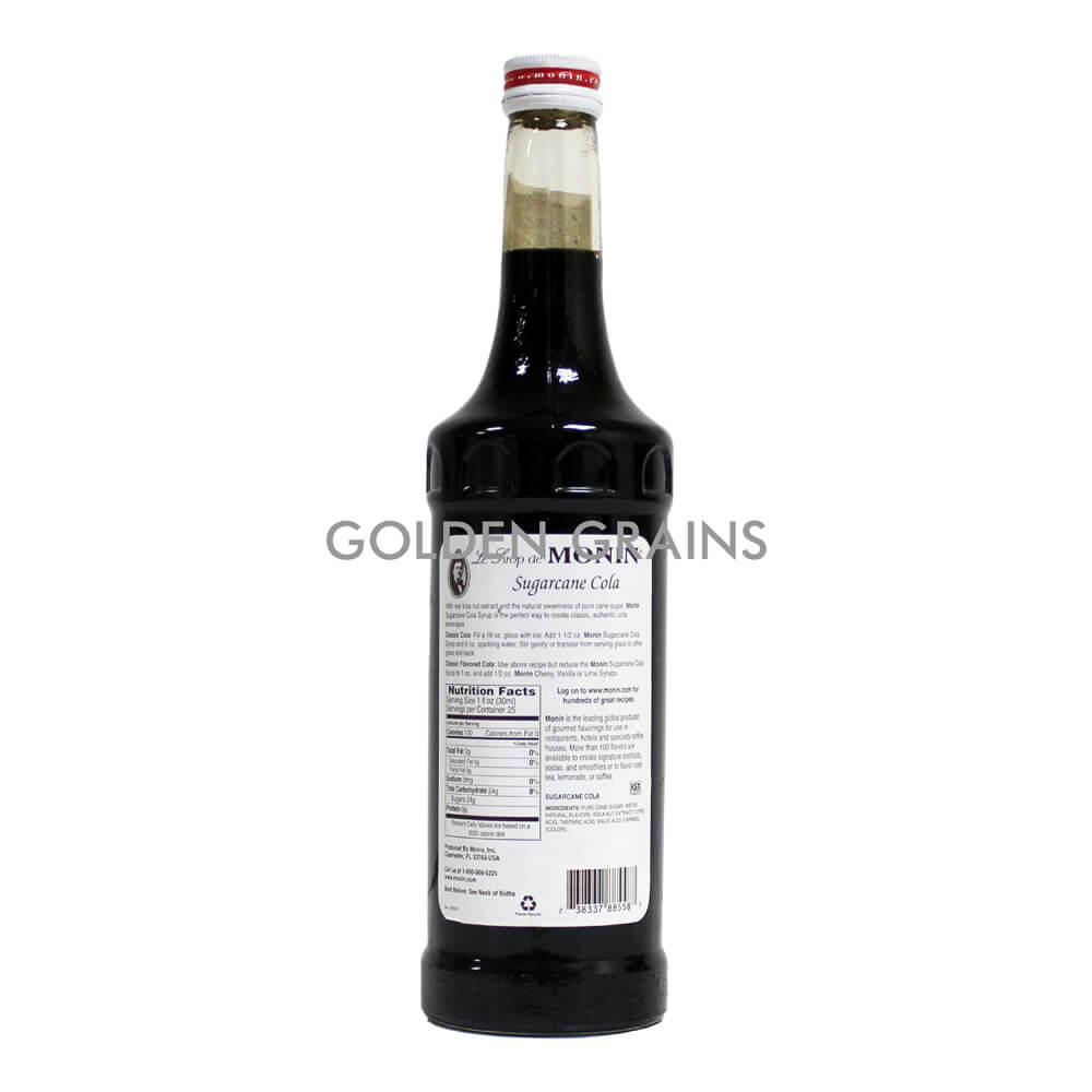 Golden Grains Monin Syrup - Sugarcane Cola - Back.jpg