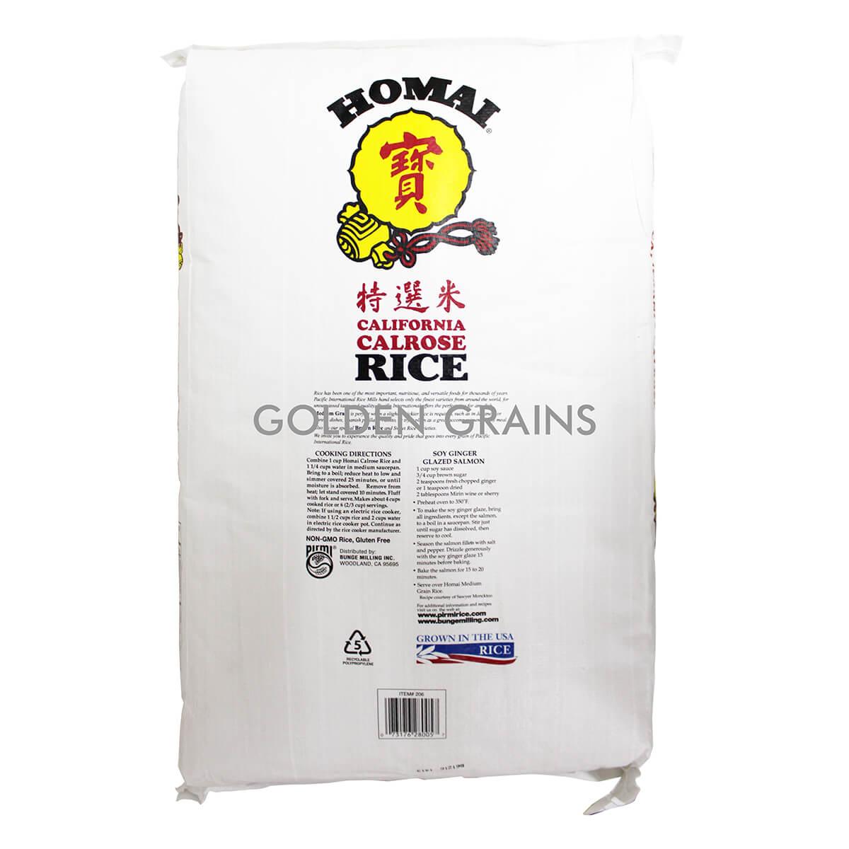 Homai Calrose Rice Back