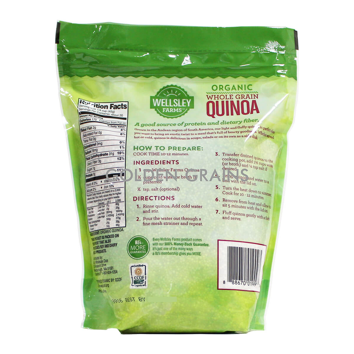 Wellsley Organic Quinoa Back