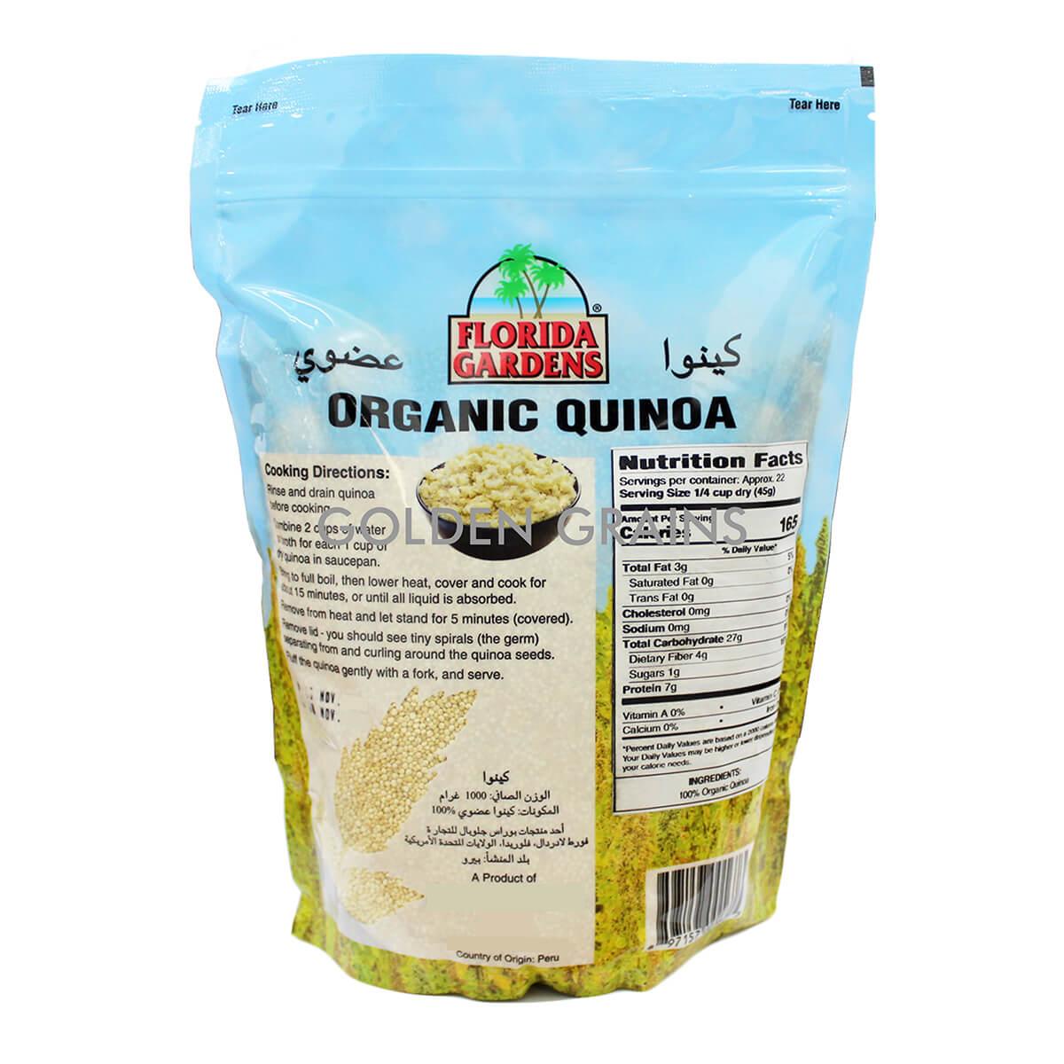 Florida Gardens Quinoa Back