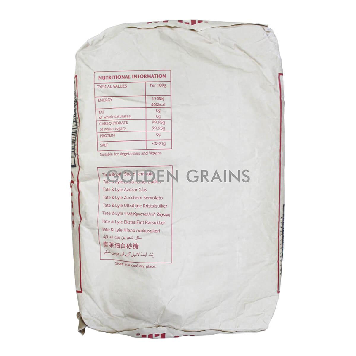 Golden Grains Tate & Lyle - Caster Sugar 25KG - Back.jpg