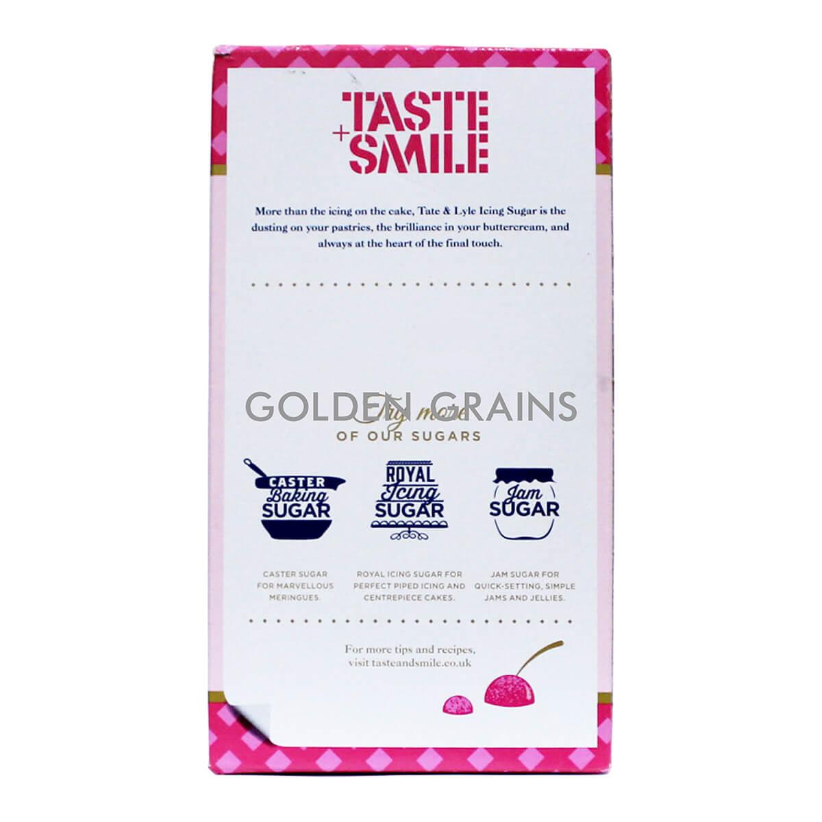 Golden Grains Tate & Lyle - Icing Sugar 500G - Back.jpg