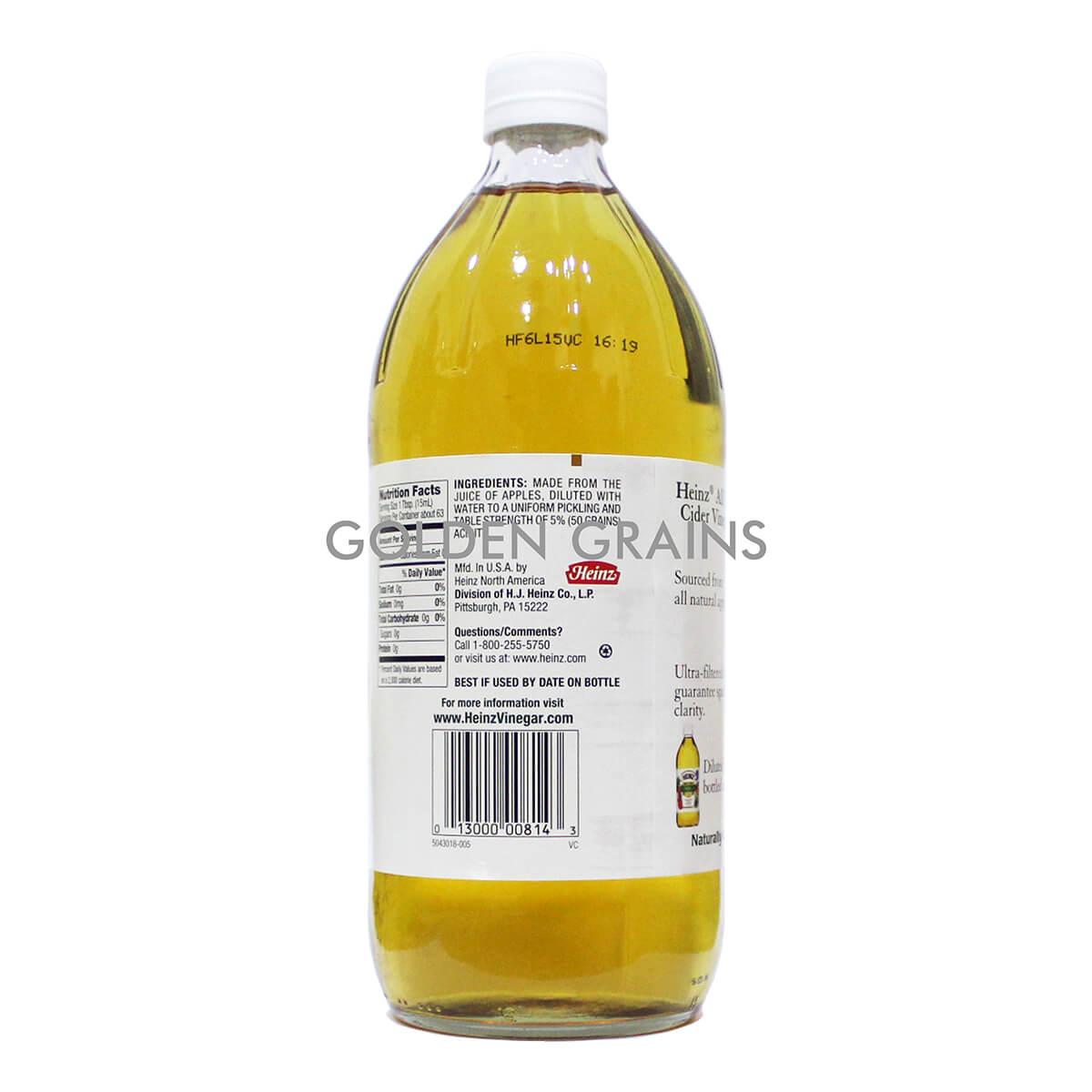 Golden Grains Heinz - Apple Cider Vinegar - Back.jpg