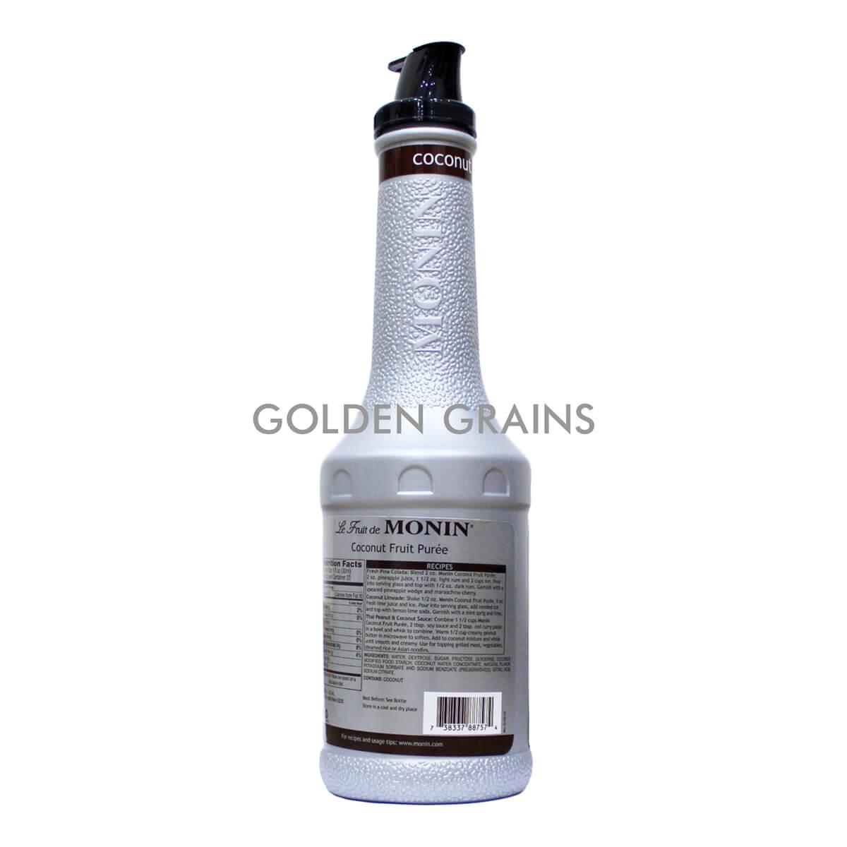 Golden Grains Monin - Coconut Puree - Back.jpg