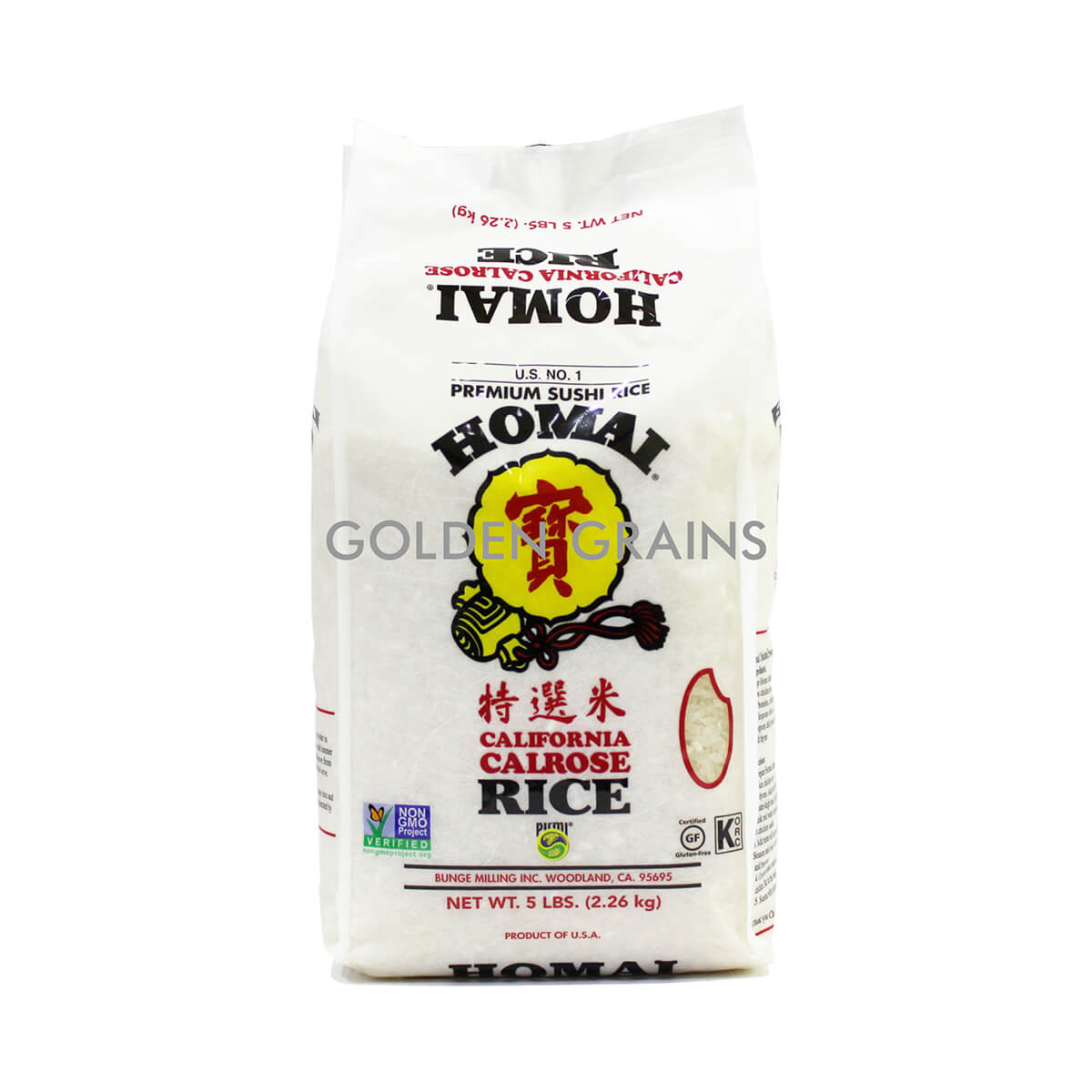Golden Grains Homai - Calrose Rice 2.26KG - Front.jpg