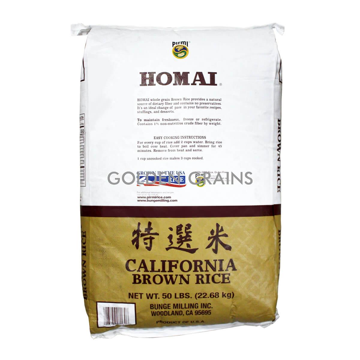 Golden Grains Homai - Cali Brown Rice 22.68KG - Back.jpg