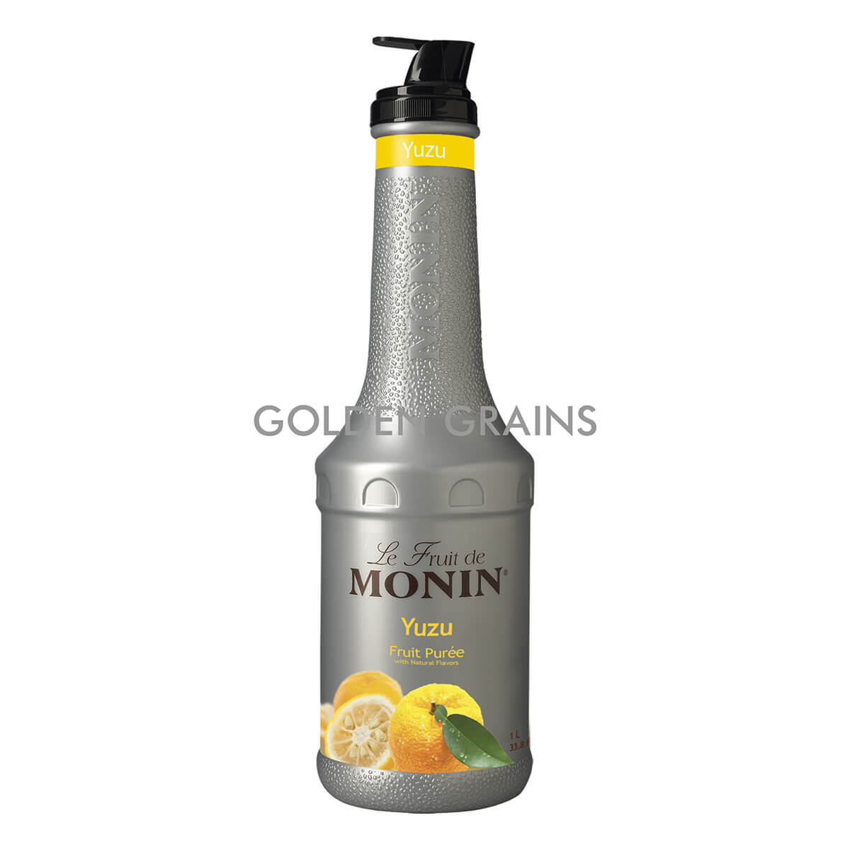Golden Grains Monin - Yuzu Puree 1LTR - Front.jpg