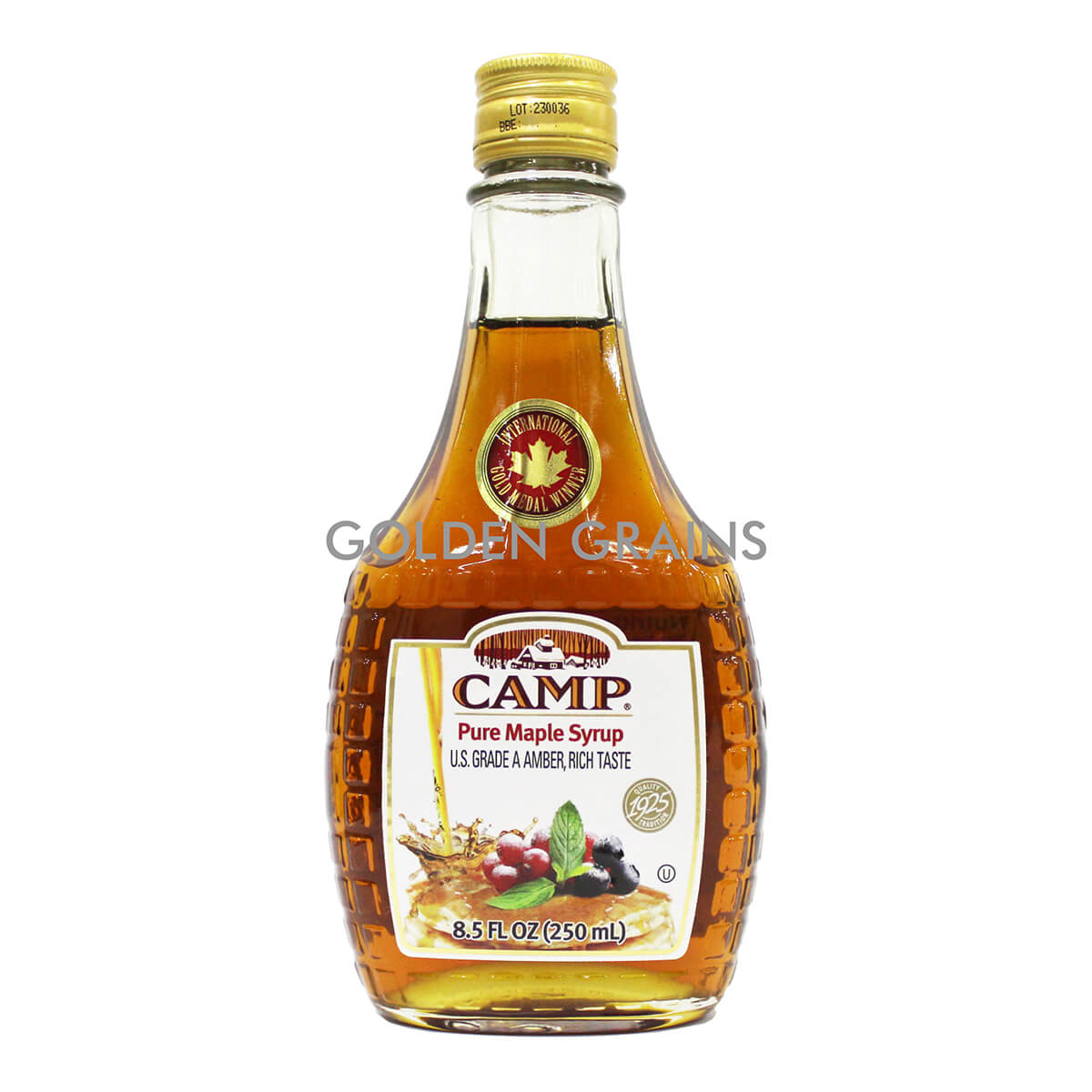 Golden Grains Camp - Maple Syrup - Front.jpg