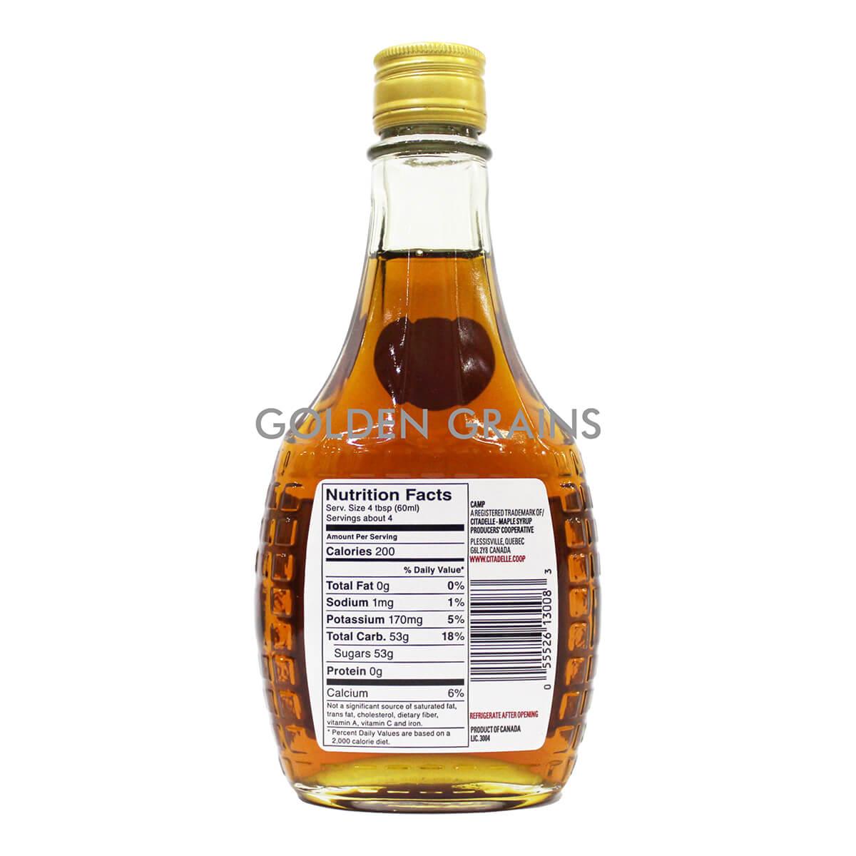 Golden Grains Camp - Maple Syrup - Back.jpg