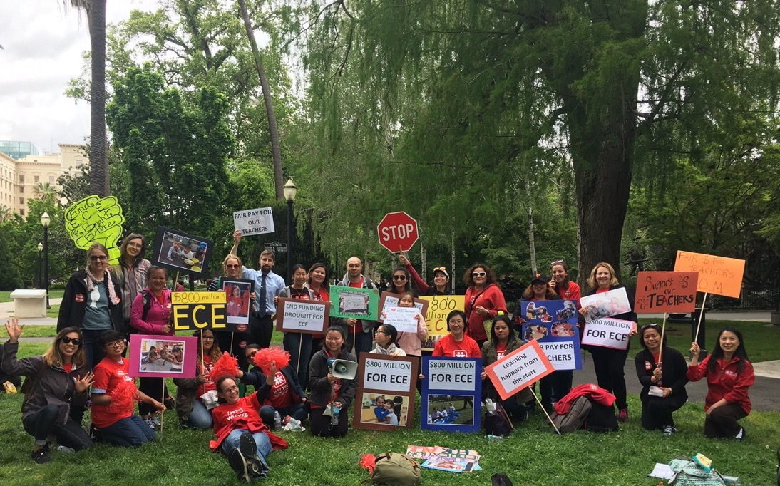 Wu Yee staff and California Coalition for Equity in Early Care and Education (CCEECE) advocates in Sacramento at #March4ECE on April 24, 2017.