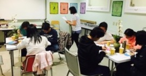 Chinese families participate in a Chinese Parent Cafe at Joy Lok LFC