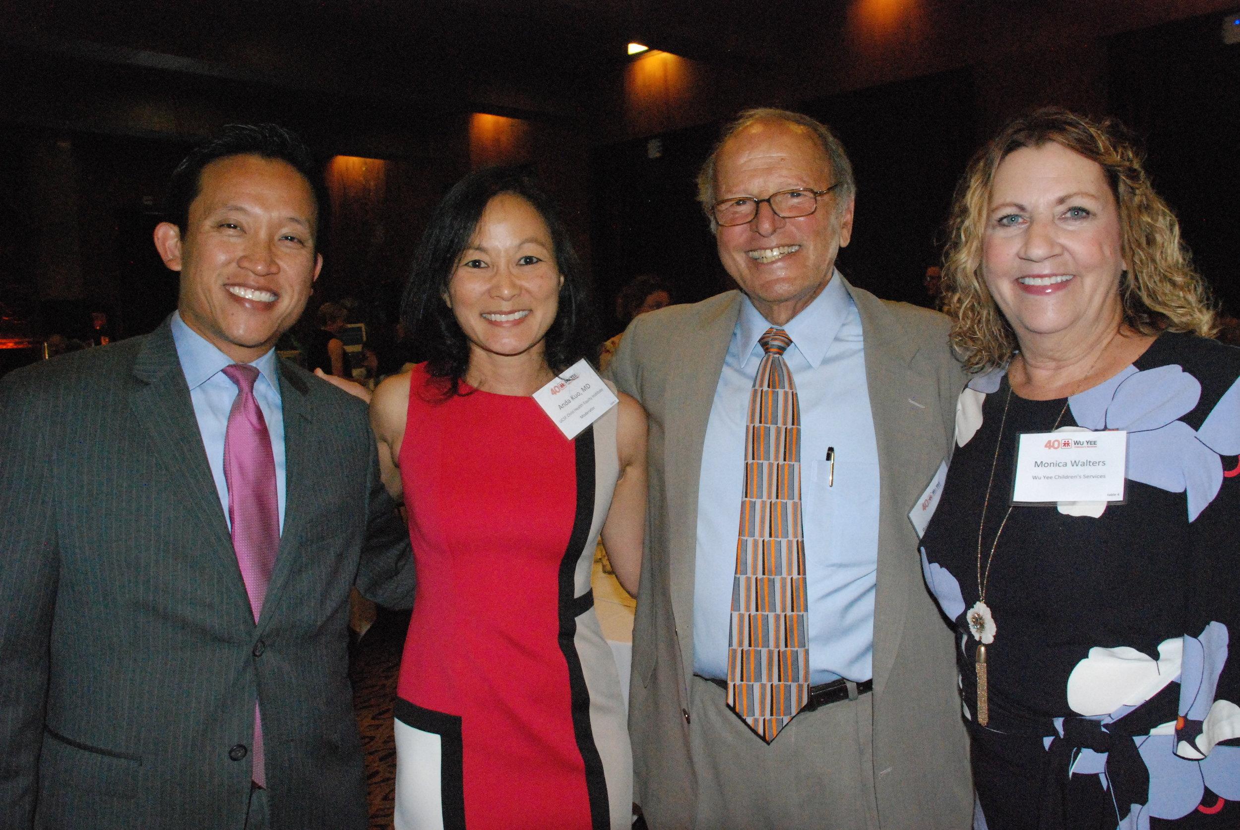 California State Assemblymember David Chiu, Anda Kuo, MD, Bertam Lubin, MD, and Wu Yee's CEO, Monica Walters