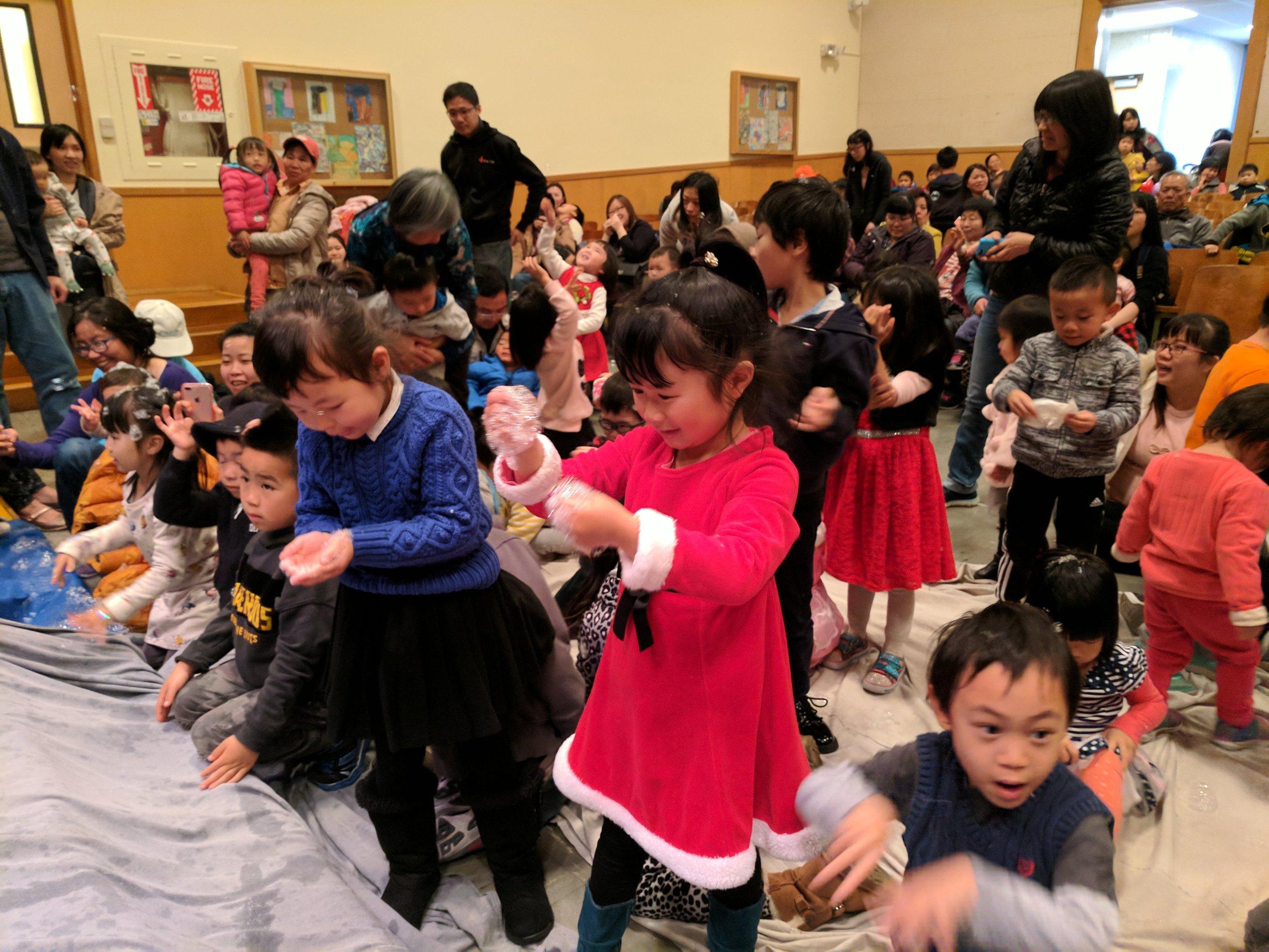 Children and families enjoy