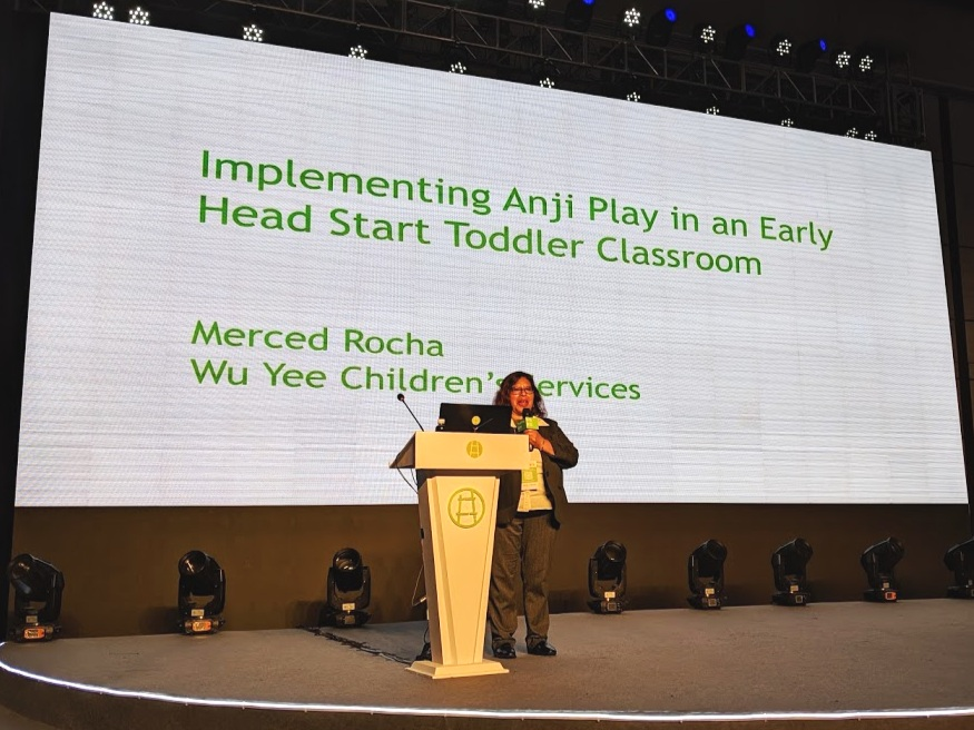 Merced Rocha, Infant and Toddler Lead Teacher at New Generations Child Development Center presents at True Play Conference 2019