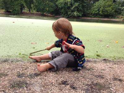My boy, age 2, Prospect Park.