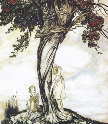 "Image: ""Hawthorn Tree"" by Arthur Rackham"