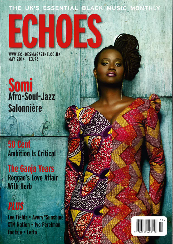 "ECHOES MAGAZINE (UK)    Somi: Afro-Soul-Jazz Salonniére (Cover Story) ""An intelligent, soulful, funky and elegantly jazzy collection that blurs genre lines as merrily as it shows off the artist's depth of talent. One the year's best albums!"""