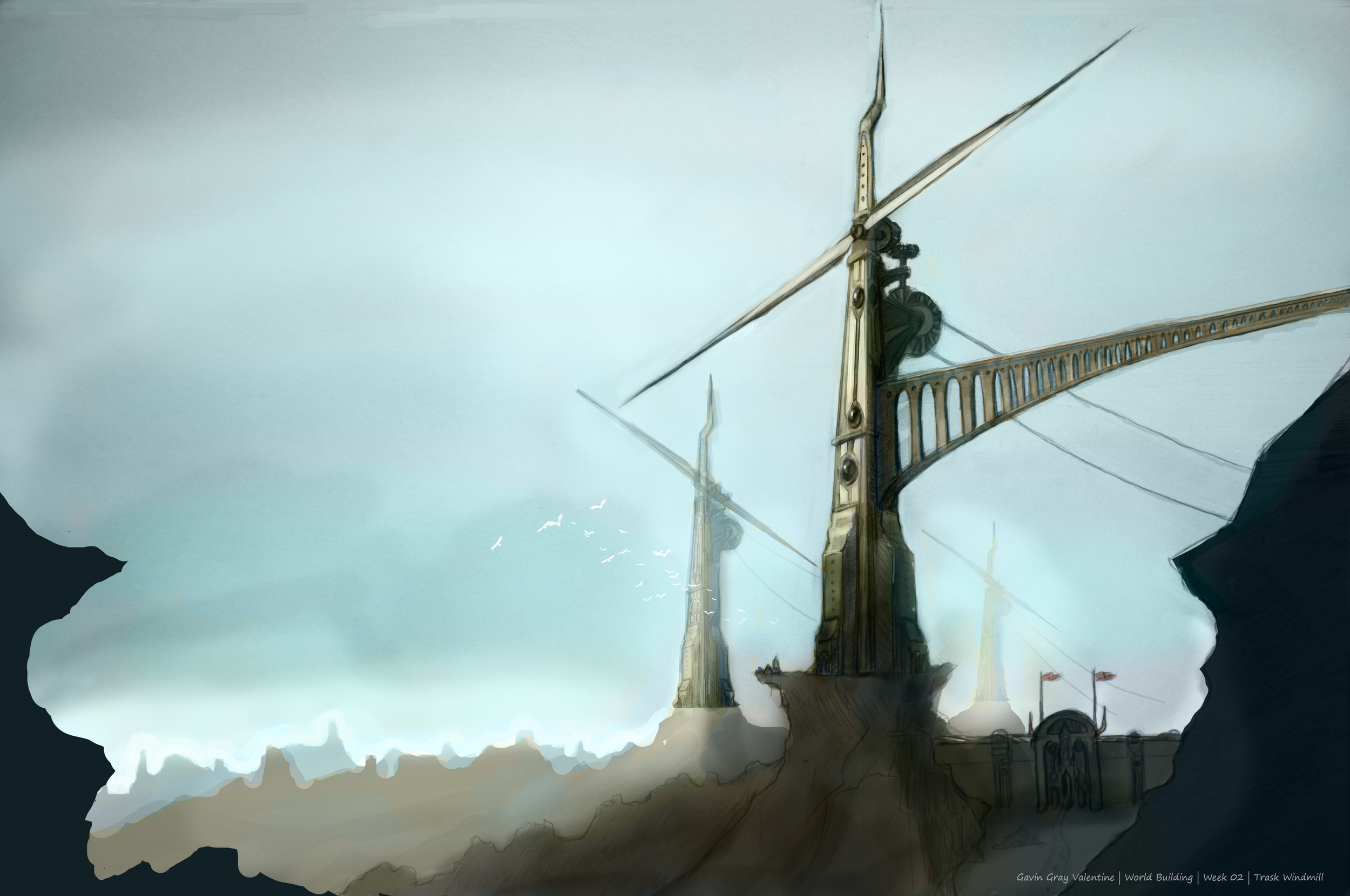 Skies of Alestria | Trask Windmills