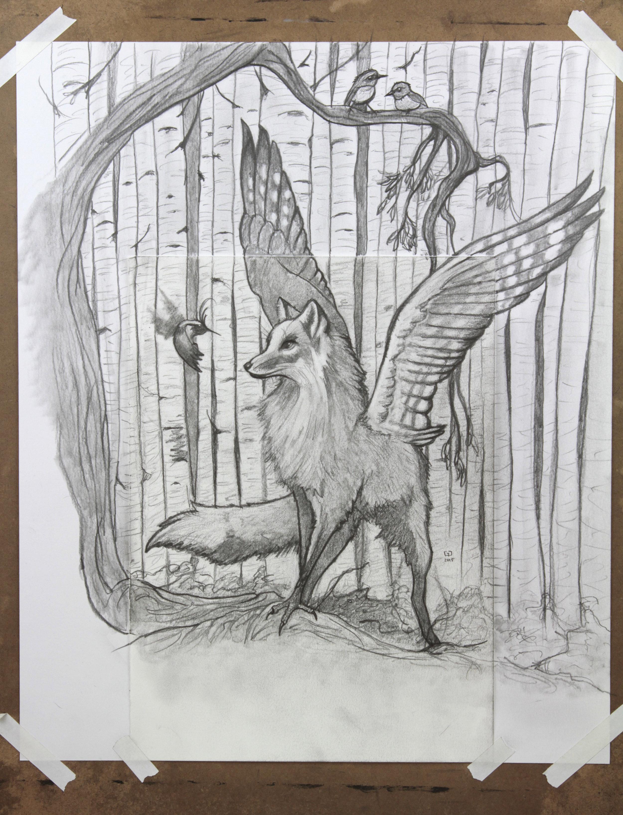 Original drawing for Avatar of Inari