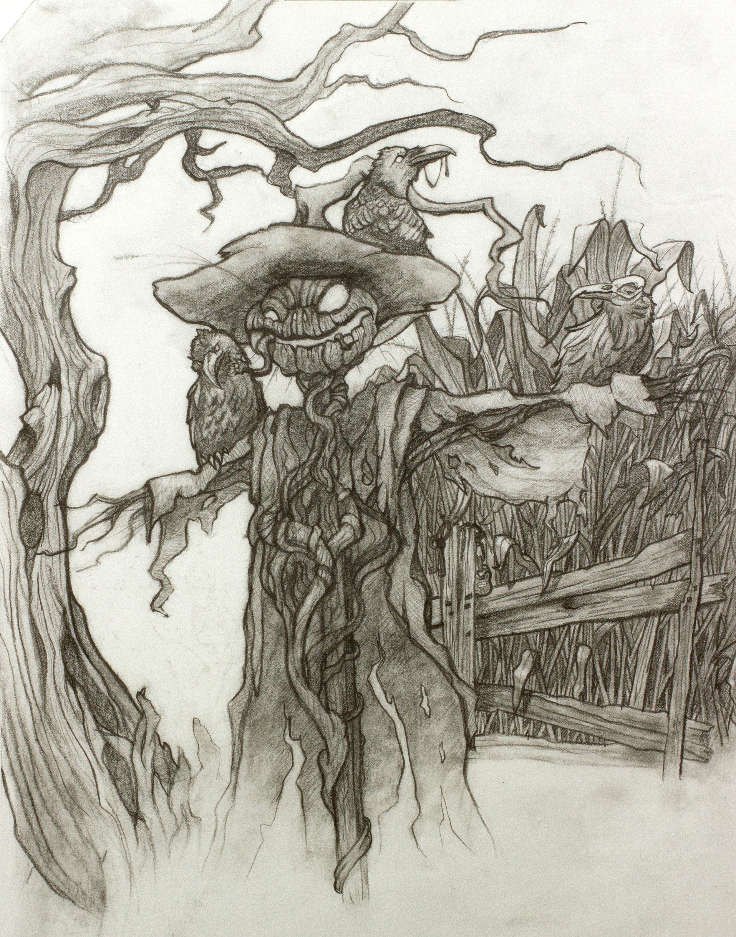 Original drawing for Field of Screams