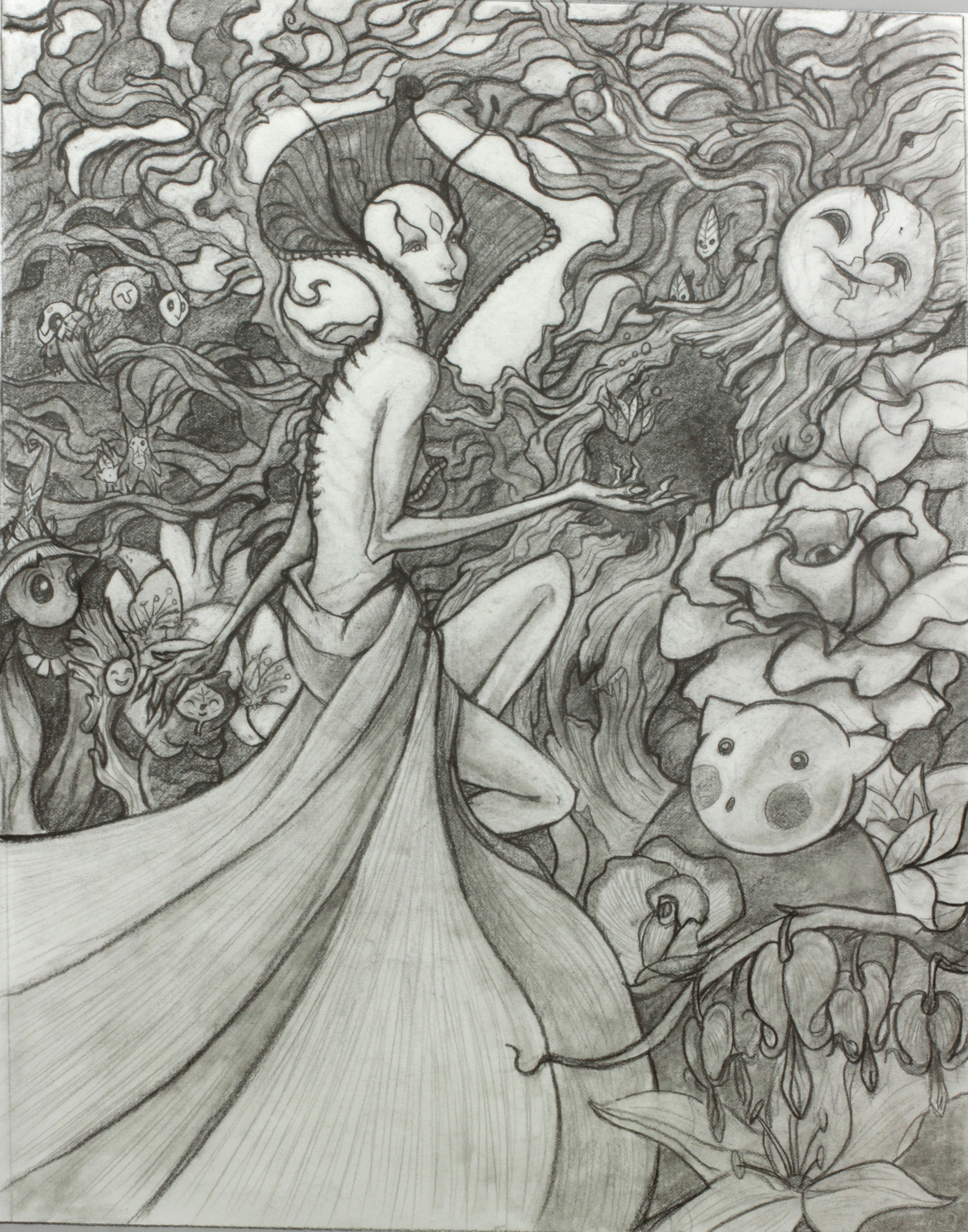 Original drawing for Maebh the Courtless