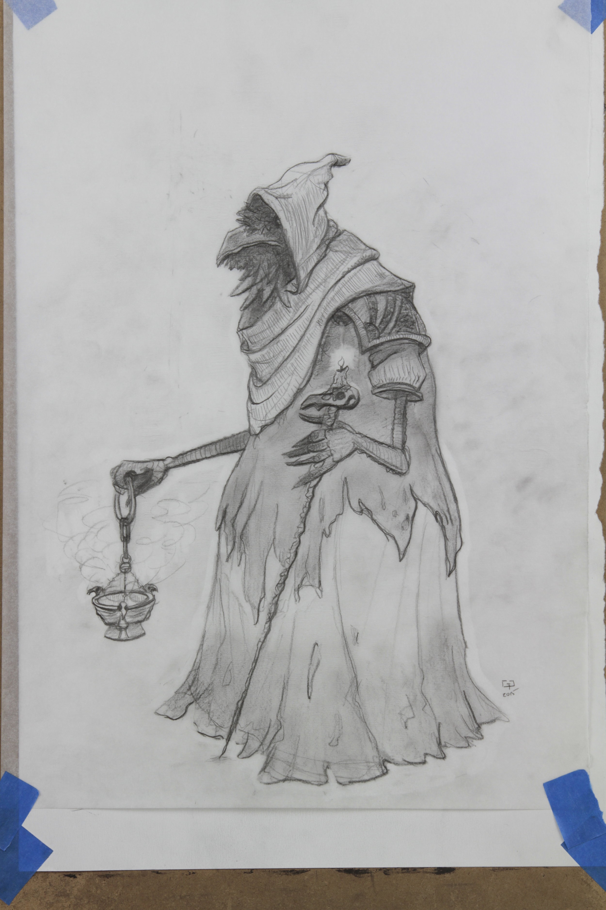 Original Drawing for Raven of Last Rites